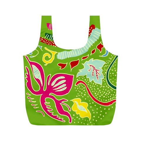 Green Organic Abstract Full Print Recycle Bags (M)