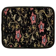 Floral Pattern Background Netbook Case (XXL)