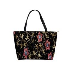 Floral Pattern Background Shoulder Handbags
