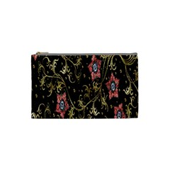 Floral Pattern Background Cosmetic Bag (Small)
