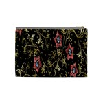 Floral Pattern Background Cosmetic Bag (Medium)  Back