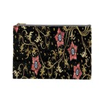 Floral Pattern Background Cosmetic Bag (Large)  Front