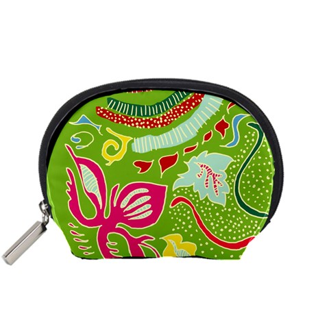 Green Organic Abstract Accessory Pouches (Small)