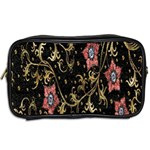 Floral Pattern Background Toiletries Bags 2-Side Back