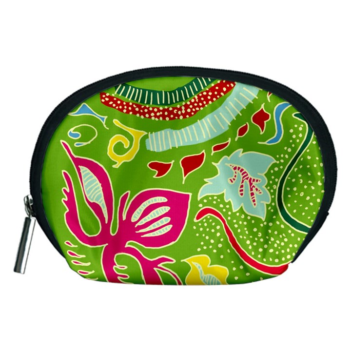 Green Organic Abstract Accessory Pouches (Medium)