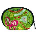 Green Organic Abstract Accessory Pouches (Medium)  Back