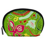 Green Organic Abstract Accessory Pouches (Large)  Front