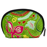 Green Organic Abstract Accessory Pouches (Large)  Back