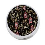 Floral Pattern Background 4-Port USB Hub (Two Sides)  Back
