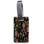 Floral Pattern Background Luggage Tags (Two Sides) Back