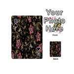 Floral Pattern Background Playing Cards 54 (Mini)  Front - SpadeQ