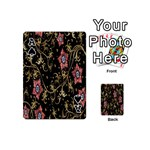 Floral Pattern Background Playing Cards 54 (Mini)  Front - SpadeA