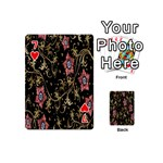 Floral Pattern Background Playing Cards 54 (Mini)  Front - Heart7
