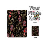 Floral Pattern Background Playing Cards 54 (Mini)  Front - Diamond7