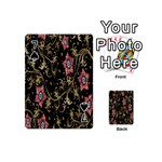 Floral Pattern Background Playing Cards 54 (Mini)  Front - Spade7