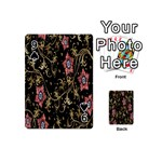 Floral Pattern Background Playing Cards 54 (Mini)  Front - Spade9