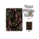Floral Pattern Background Playing Cards 54 (Mini)  Front - SpadeJ