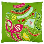 Green Organic Abstract Large Flano Cushion Case (Two Sides) Back