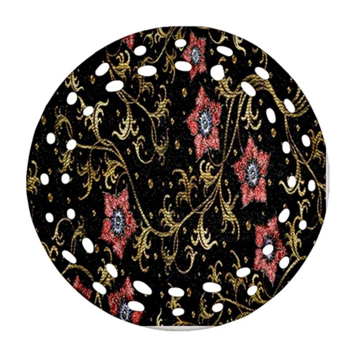 Floral Pattern Background Ornament (Round Filigree)