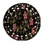 Floral Pattern Background Round Filigree Ornament (2Side) Front