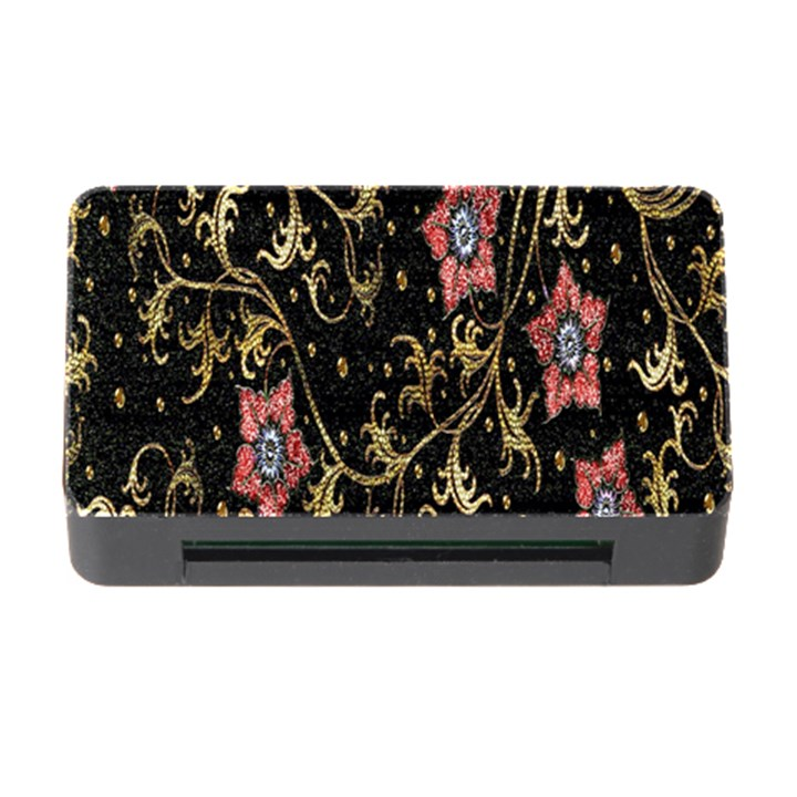 Floral Pattern Background Memory Card Reader with CF