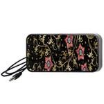 Floral Pattern Background Portable Speaker (Black)  Front