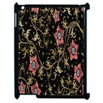 Floral Pattern Background Apple iPad 2 Case (Black) Front