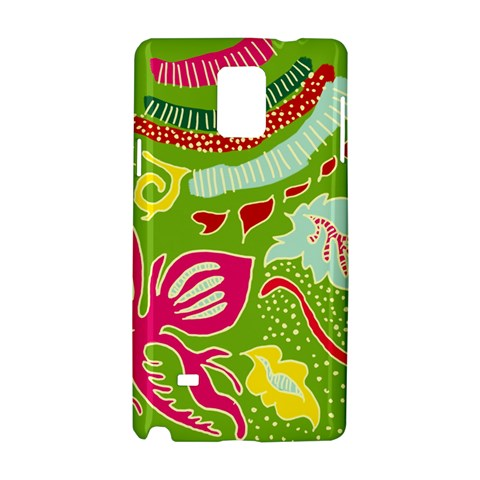 Green Organic Abstract Samsung Galaxy Note 4 Hardshell Case
