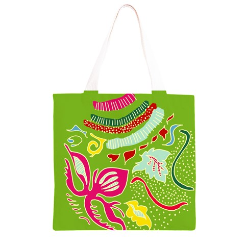 Green Organic Abstract Grocery Light Tote Bag