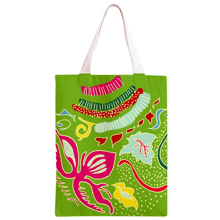 Green Organic Abstract Classic Light Tote Bag