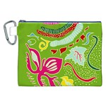 Green Organic Abstract Canvas Cosmetic Bag (XXL) Front