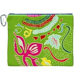 Green Organic Abstract Canvas Cosmetic Bag (XXXL) Front