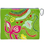 Green Organic Abstract Canvas Cosmetic Bag (XXXL) Back