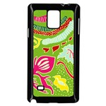Green Organic Abstract Samsung Galaxy Note 4 Case (Black) Front
