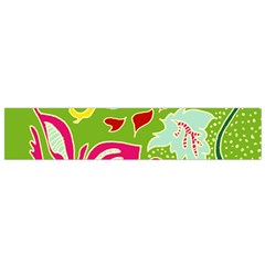 Green Organic Abstract Flano Scarf (small)