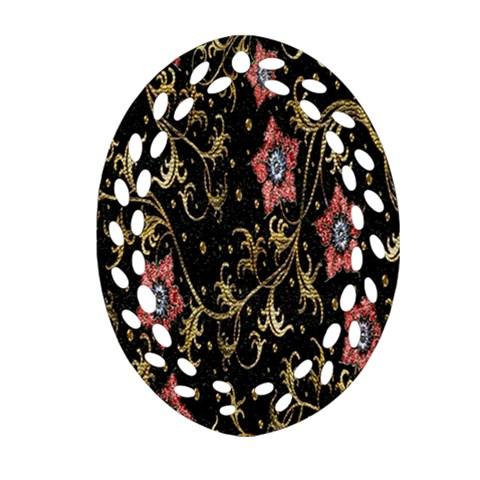 Floral Pattern Background Ornament (Oval Filigree)