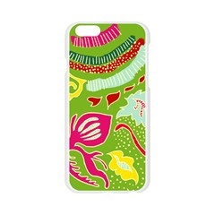 Green Organic Abstract Apple Seamless iPhone 6/6S Case (Transparent)
