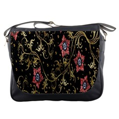 Floral Pattern Background Messenger Bags