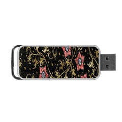 Floral Pattern Background Portable USB Flash (One Side)