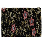 Floral Pattern Background Cosmetic Bag (XXL)  Back