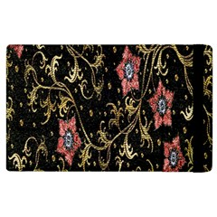 Floral Pattern Background Apple iPad 2 Flip Case