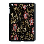 Floral Pattern Background Apple iPad Mini Case (Black) Front
