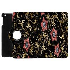 Floral Pattern Background Apple iPad Mini Flip 360 Case