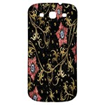 Floral Pattern Background Samsung Galaxy S3 S III Classic Hardshell Back Case Front