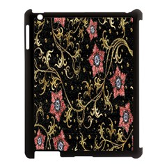 Floral Pattern Background Apple iPad 3/4 Case (Black)
