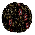 Floral Pattern Background Large 18  Premium Round Cushions Front