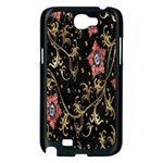 Floral Pattern Background Samsung Galaxy Note 2 Case (Black) Front