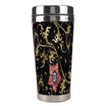 Floral Pattern Background Stainless Steel Travel Tumblers Left