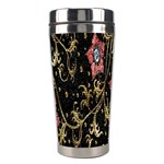 Floral Pattern Background Stainless Steel Travel Tumblers Center