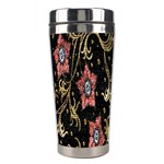 Floral Pattern Background Stainless Steel Travel Tumblers Right